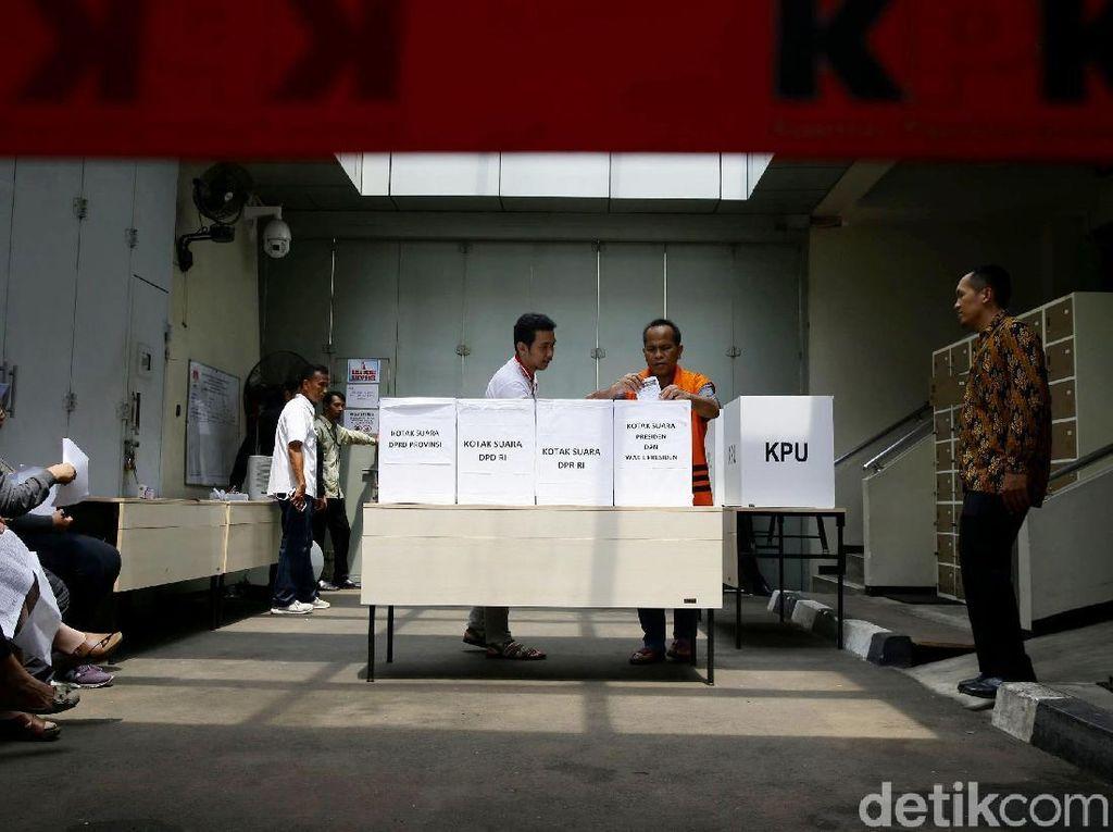 Ada Tahanan Tak Nyoblos, KPK Cerita soal Permintaan Tak Diborgol