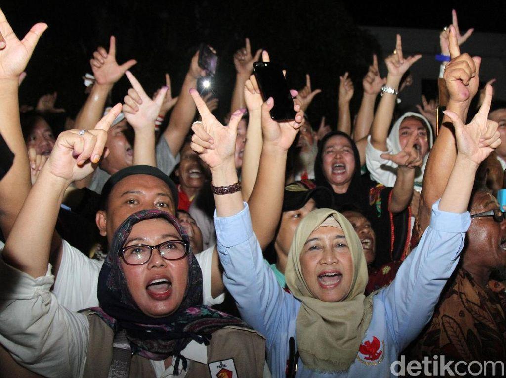 Pendukung Prabowo-Sandi Juga Rayakan Kemenangan