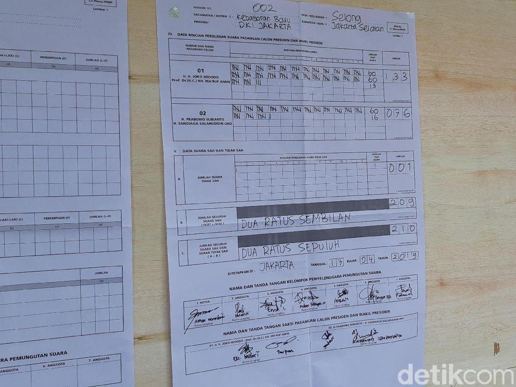 Jokowi Menang di TPS Sandiaga Uno