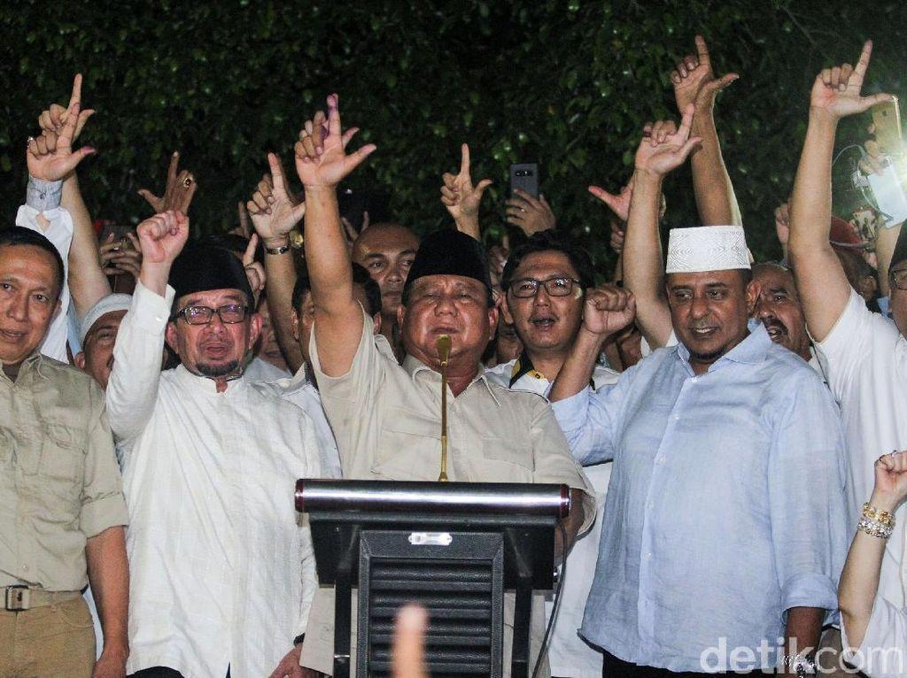 Klaim Prabowo Menang Turun dari 62% ke 54%, BPN Ungkap Data Awal dari SMS