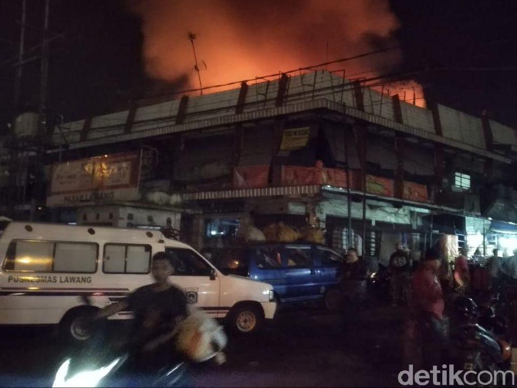 Pasar Lawang Malang Terbakar, Total Kerugian Ditaksir Rp 3,5 M