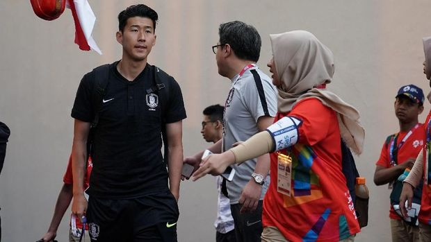 Son Heung-min di Asian Games 2018.