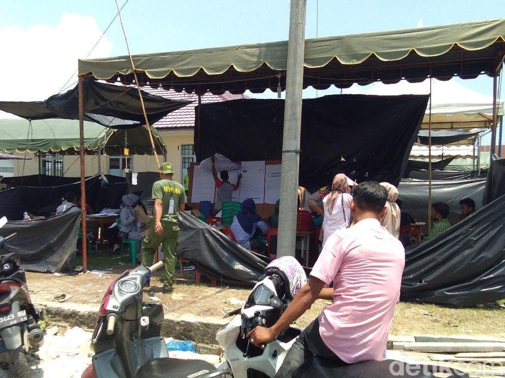 Pemungutan Suara di TPS Dekat Pos TNI Pusong Aceh Dilanjutkan