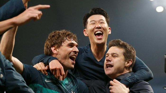 Tottenham Hotspur lolos ke semifinal Liga Champions usai menyingkirkan Manchester City (Foto: Andrew Yates/Reuters)