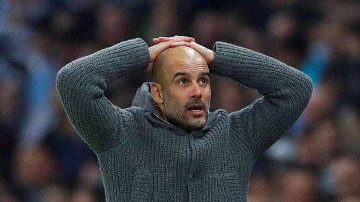 Josep Guardiola belum pernah lagi menjuarai Liga Champions setelah meninggalkan Barcelona (REUTERS/Phil Noble)