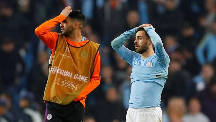 Manchester City disingkirkan Tottenham Hotspur di Liga Champions. (Foto: Phil Noble / Reuters)