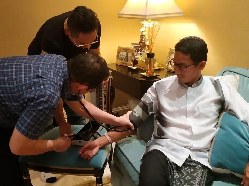Sandiaga Diperiksa Dokter, Alami Gangguan Lambung-Radang Tenggorokan