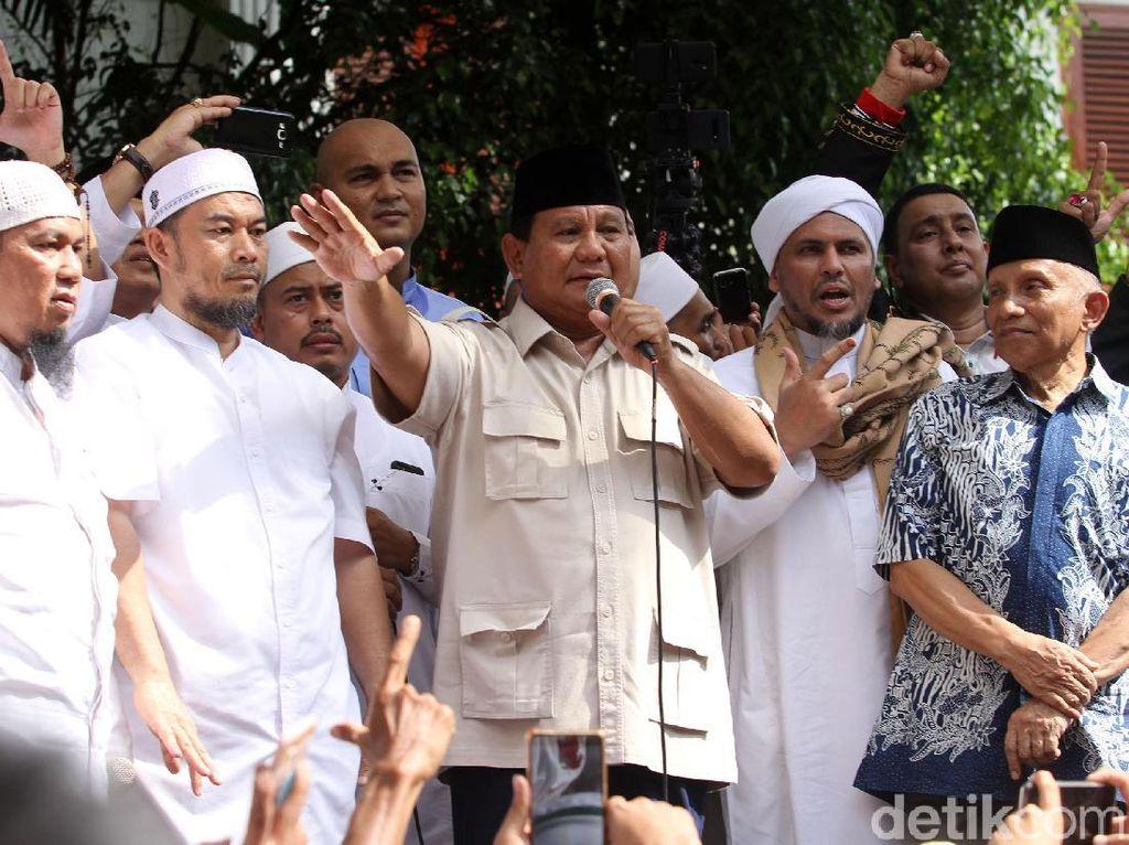 Syukuran Setelah 3 Klaim Kemenangan Prabowo