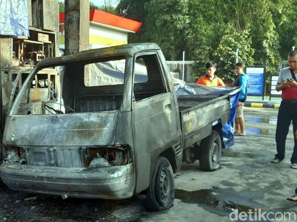 SPBU di Sukabumi Terbakar, 1 Mobil Hangus