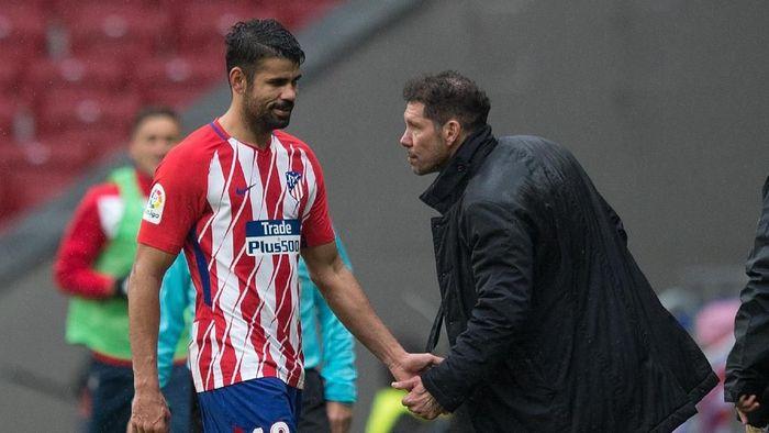 Diego Costa dihubungkan dengan kepindahan dari Atletico Madrid usai masalah indisipliner. (Foto: Denis Doyle / Getty Images)