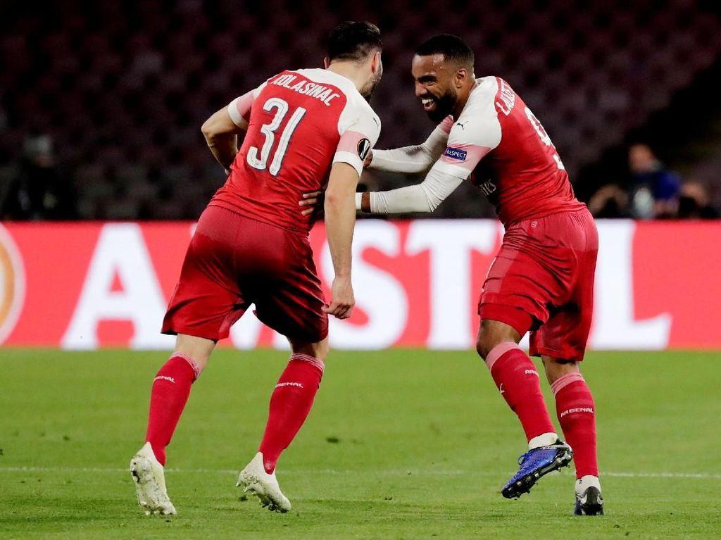 Hasil Liga Europa: Singkirkan Napoli, Arsenal ke Semifinal