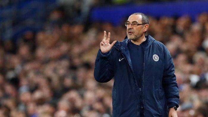 Manajer Chelsea Maurizio Sarri menyebut ke final Liga Champions lebih mudah ketimbang ke final Piala Liga. (Foto: Jason Cairnduff/Action Images via Reuters)