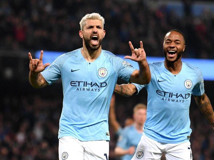 Sergio Aguero dan Raheem Sterling masuk daftar Tim Terbaik Liga Inggris versi PFA (Laurence Griffiths/Getty Images)