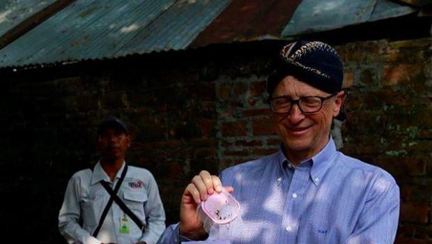 Bill Gates saat berkunjung ke Indonesia,