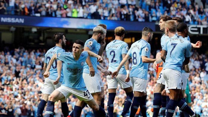 Manchester City menang 1-0 atas Tottenham Hotspur lewat gol Phil Foden (Phil Noble/Reuters)