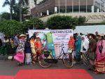 Onthelista Gelar Pawai Rayakan Hari Kartini di CFD Bundaran HI