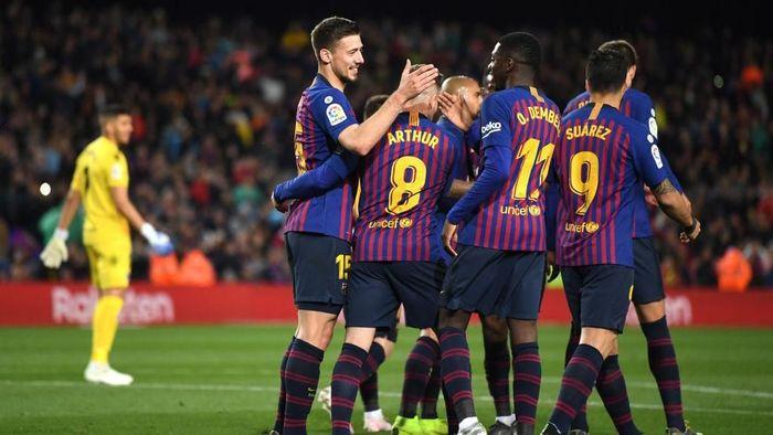Barcelona berpeluang mengunci gelar juara Liga Spanyol pada akhir pekan ini (Foto: David Ramos/Getty Images)