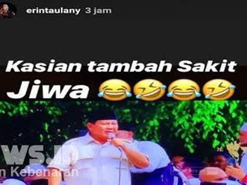 Meski Erin Taulany Minta Maaf ke Prabowo, Pelapor Tetap Lanjutkan Proses Hukum