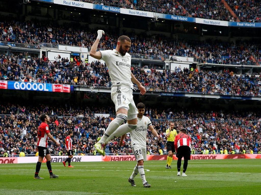 Hasil Liga Spanyol: Benzema Hat-trick, Madrid Bungkam Bilbao