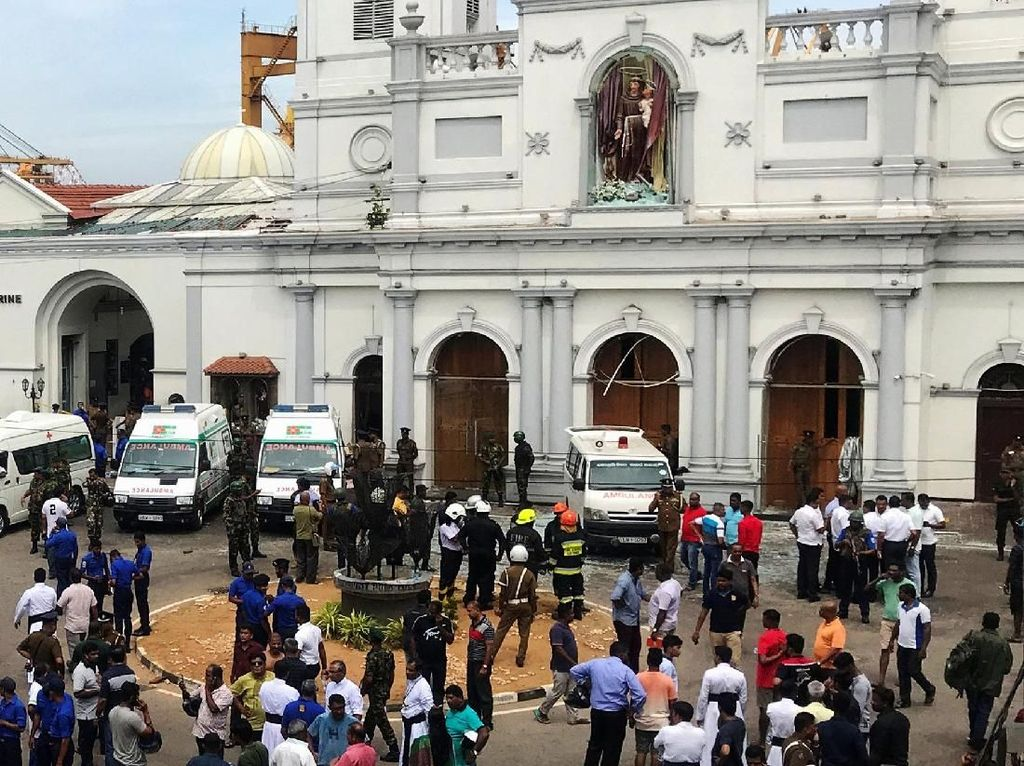 Ledakan Hantam 3 Gereja di Sri Lanka, Puluhan Orang Tewas