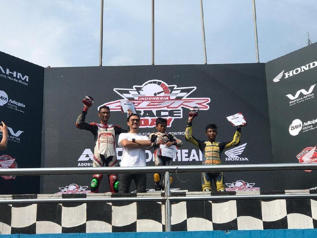 Bocah 11 Tahun Jadi Jawara Balap Honda CBR 150cc