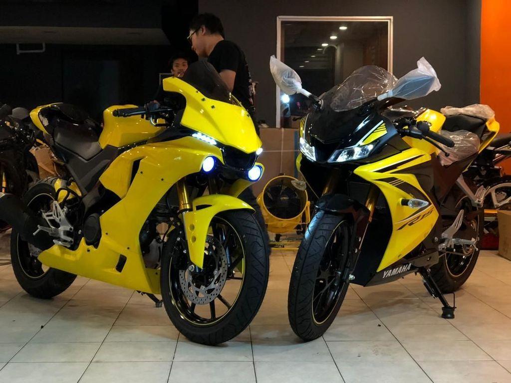 Keren Banget, Yamaha R15 Dimodifikasi Jadi Moge R1M