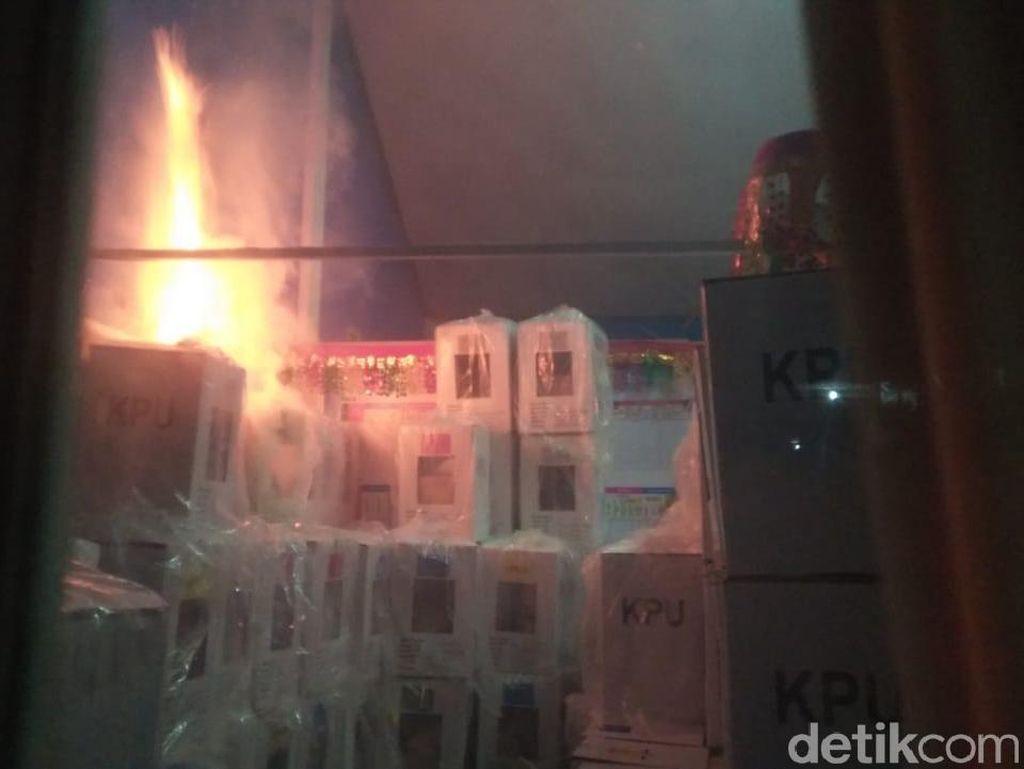 Jamak Kasus Pembakaran Kotak Suara, TKN: Sudah Kriminal, Harus Dihukum