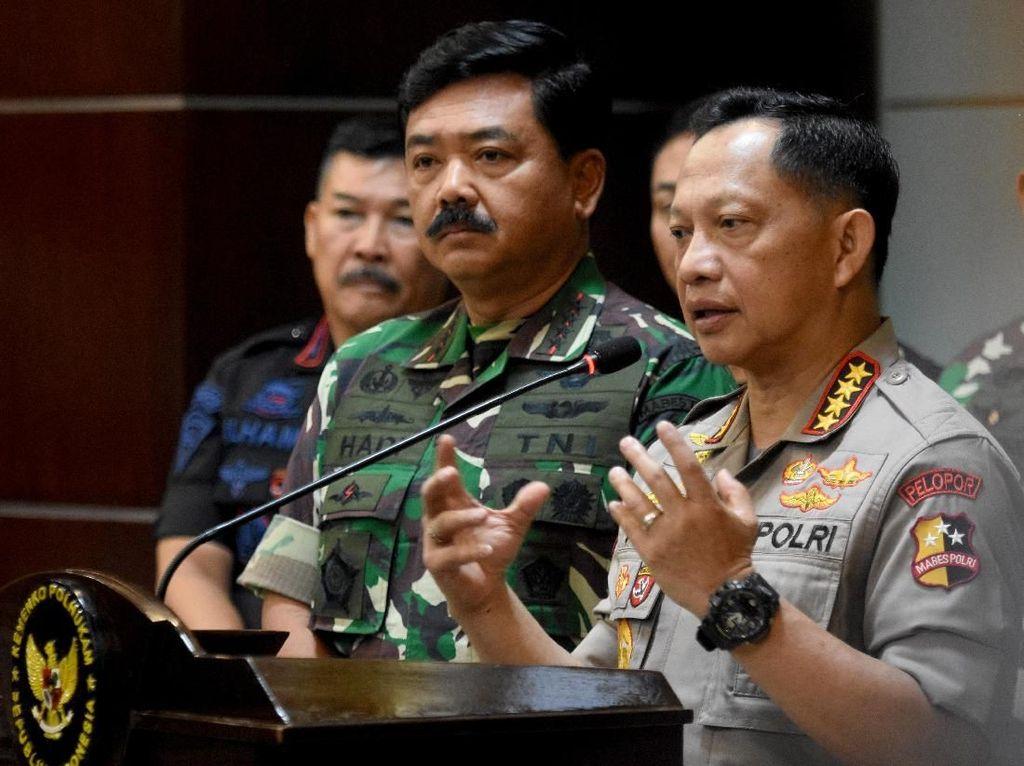 Jelang Putusan MK, Panglima-Kapolri Kumpul di Posko TNI Dekat Istana