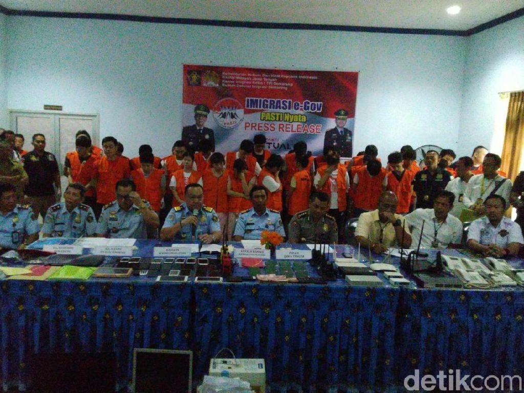 Belum Dideportasi, 40 WNA yang Dibekuk di Semarang Terancam Bui 6 Tahun