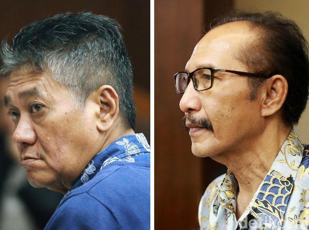 Ekspresi 2 Hakim PN Jaksel Didakwa Terima Suap Kasus Dagang Perkara