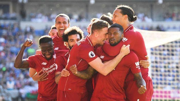 Gini Wijnaldum menilai Liverpool harus dapat trofi musim ini (Mike Hewitt/Getty Images)