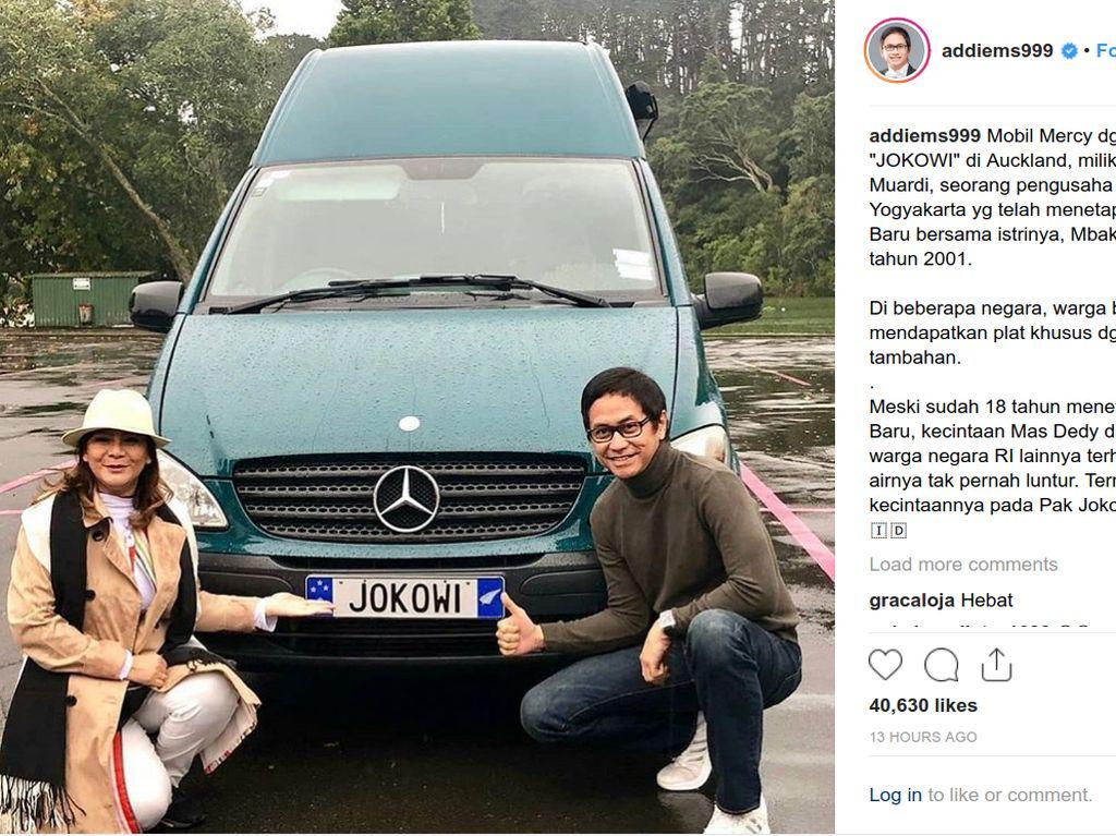 Mobil Mercy Berpelat Jokowi di Selandia Baru