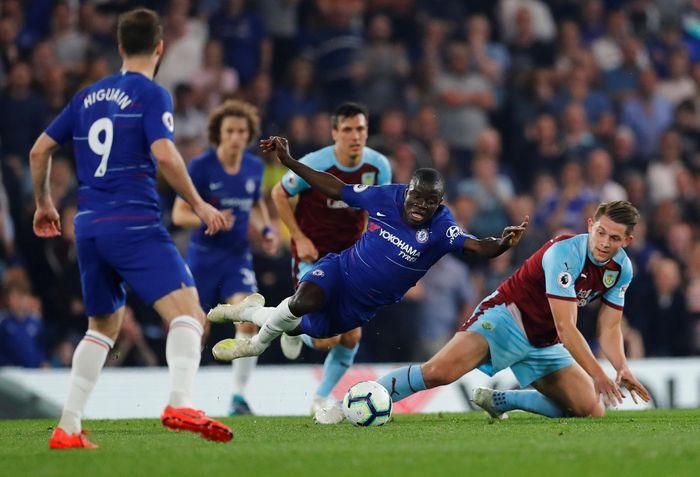 Memainkan laga pekan ke-35 Liga Inggris, Chelsea menjamu Burnley di Stamford Bridge, Selasa (23/4/2019) dinihari WIB. Reuters/Eddie Keogh.