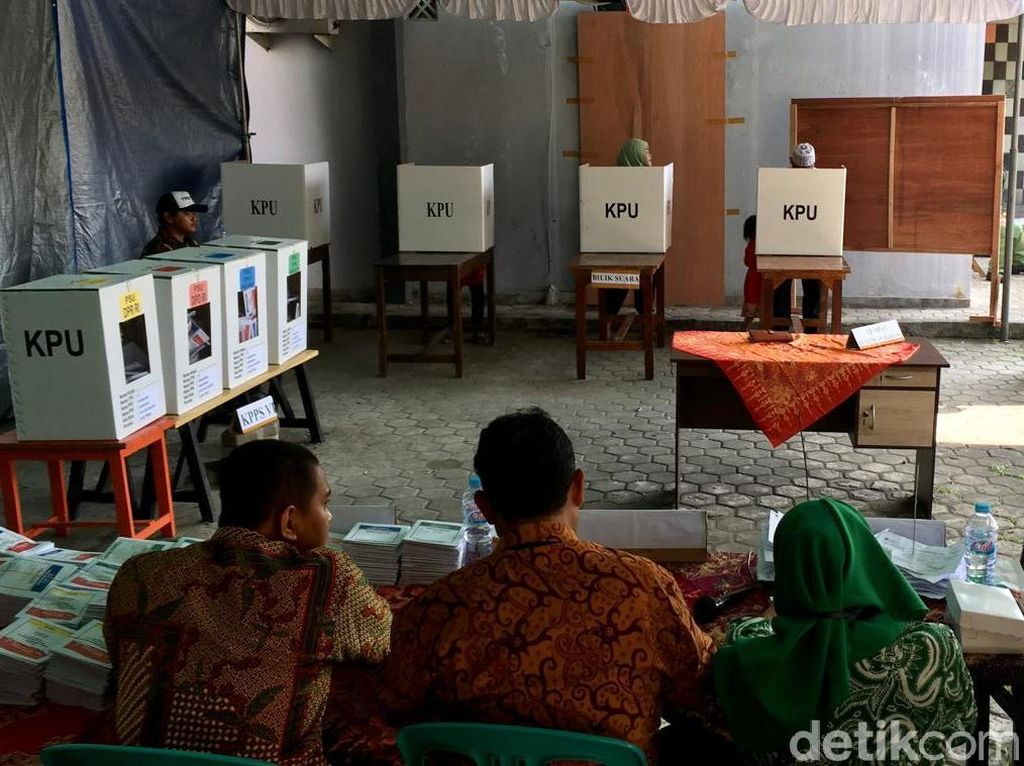 TPS di Mojokerto Ini Coblos Ulang, Partisipasi Pemilihnya Malah Turun