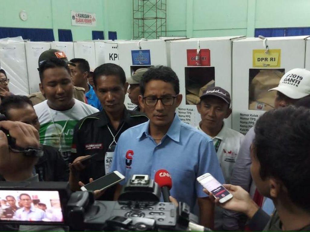 Tak Dampingi Prabowo Syukuran, Sandiaga: Kita Bagi Tugas, Saya Kawal C1