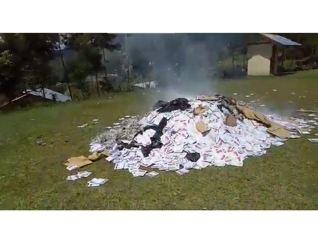Bumbu Provokasi Surat Suara Terbakar Diusut Polisi