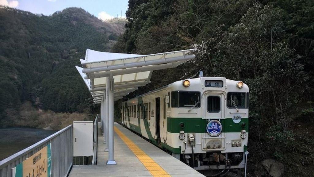 Foto: Stasiun Kereta Tanpa Pintu yang Indah di Jepang