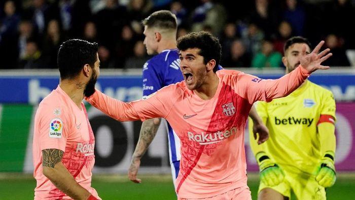 Barcelona di ambang gelar juara Liga Spanyol usai menang atas Deportivo Alaves. (Foto: Vincent West / Reuters)
