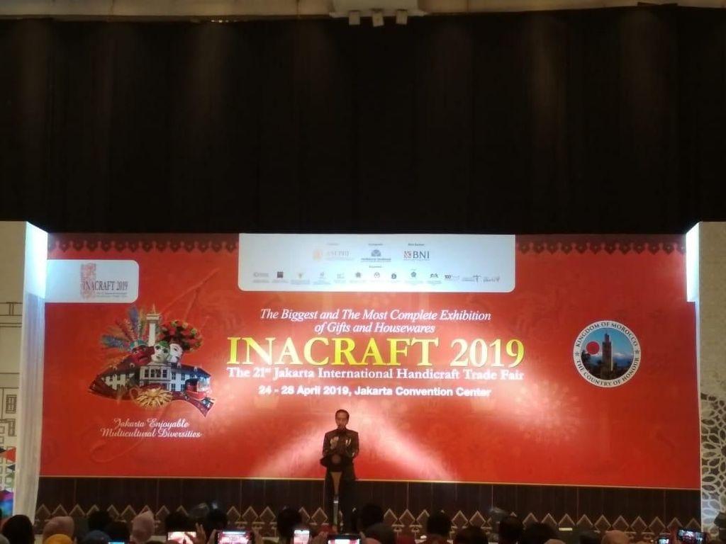 Buka Pameran Kerajinan, Jokowi: Produknya Selalu Naik Kelas