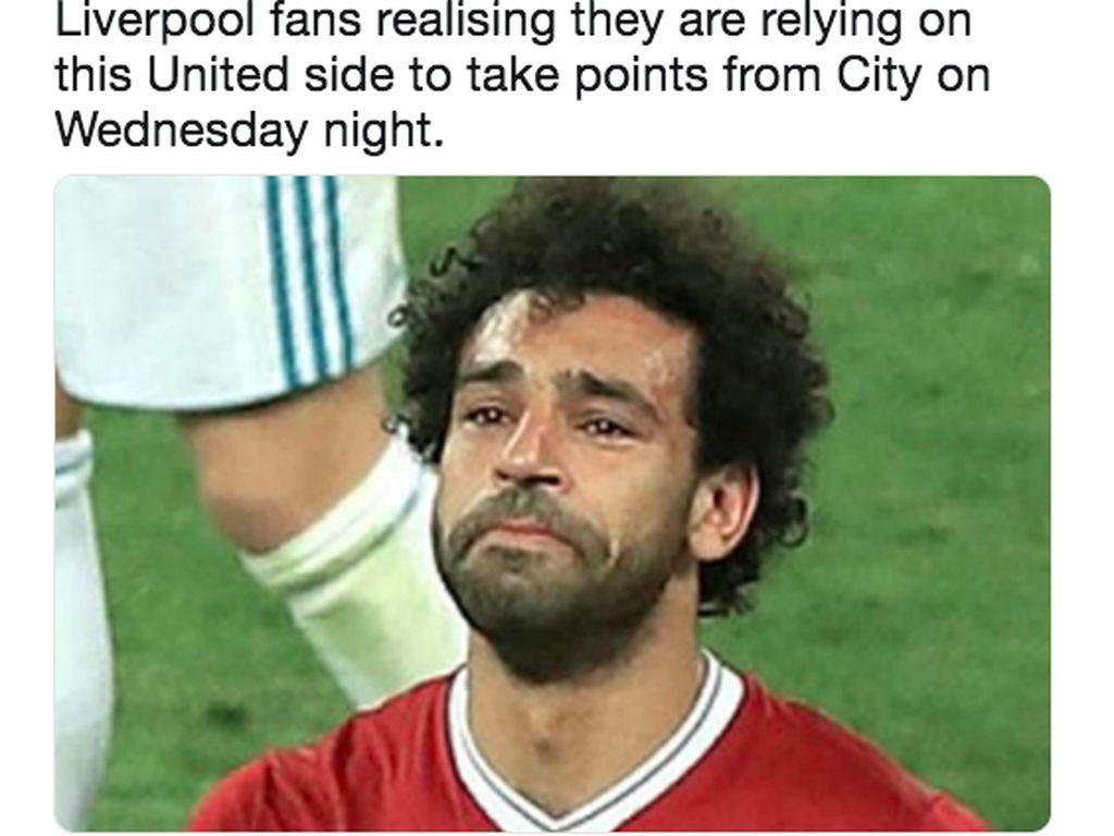Meme Fans Liverpool Terpaksa Dukung Manchester United