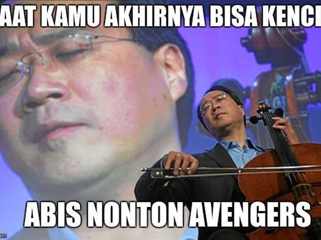 Deretan Meme Kocak Menahan Kencing Saat Nonton Avengers: Endgame