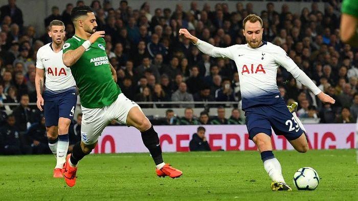 Christian Eriksen cetak gol kemenangan untuk Tottenham Hotspur. (Foto: Dylan Martinez/Reuters)