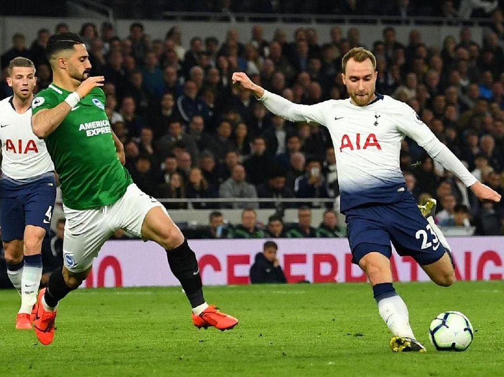 Hasil Liga Inggris: Gol Eriksen di Akhir Laga Menangkan Tottenham atas Brighton