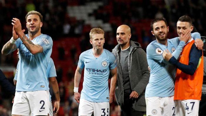 Manchester City kini memegang kendali penuh perburuan gelar juara Liga Inggris (Carl Recine/Reuters)