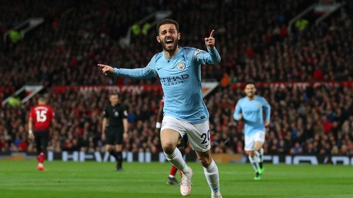 Manchester City menang 2-0 di Old Trafford. (Foto: Catherine Ivill/Getty Images)