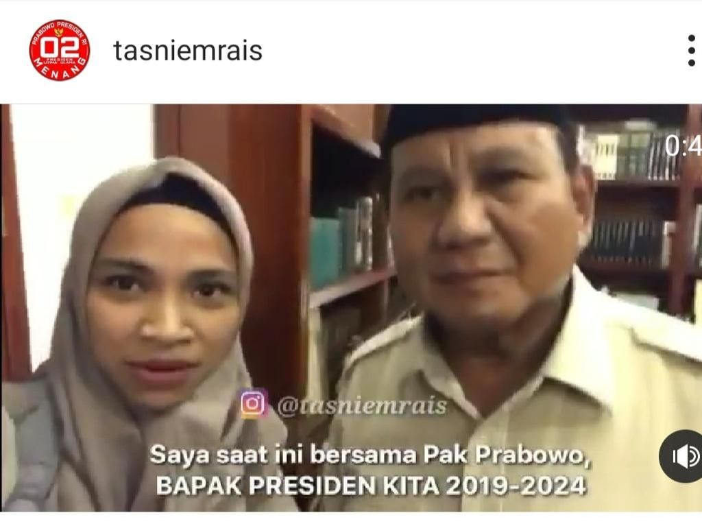 Video Tasniem Rais Sebut Prabowo Presiden Jadi Perhatian Netizen
