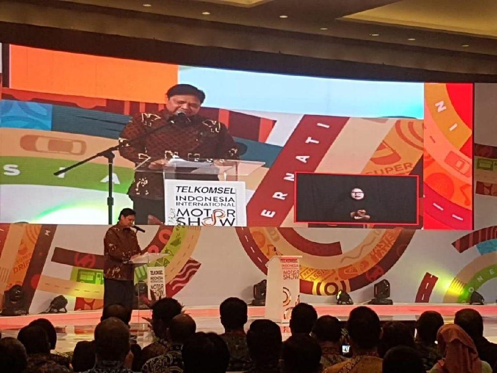 Jokowi Absen, IIMS 2019 Dibuka Menperin Airlangga Hartarto