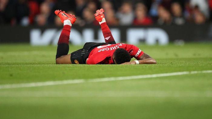 Marcus Rashford saat Manchester United dikalahkan oleh Manchester City 0-2 di Liga Inggris. (Foto: Carl Recine/Action Images via Reuters)