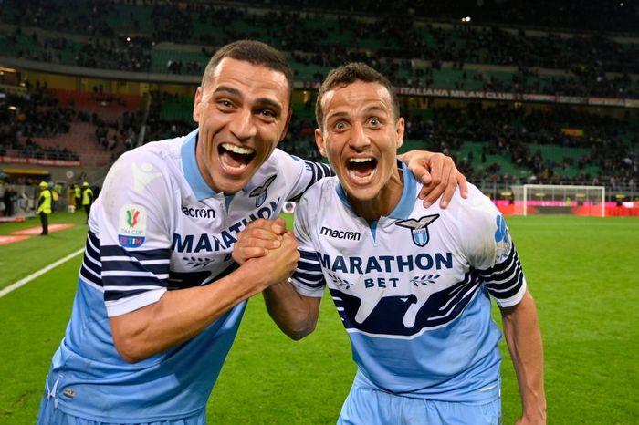 Lazio berhasil menang tipis 1-0 di markas AC Milan di laga semifinal leg II Coppa Italia. Hasil itu mengantarkan Lazio maju ke final usai unggul agregat 1-0. Marco Rosi/Getty Images.