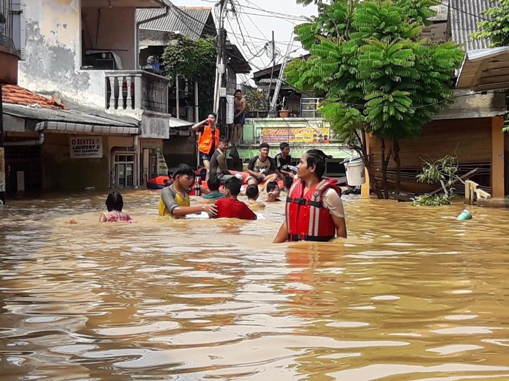 Banjir di Rawajati, Ketua RT: Ini yang Terbesar Selama 2019